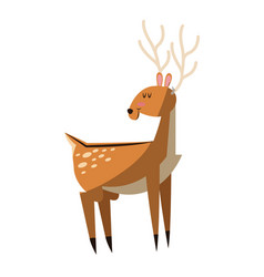 deer animal icon vector image