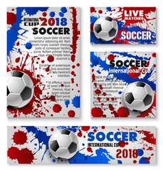 football cup soccer team background posters vector image