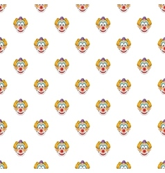 Head clown pattern cartoon style vector image vector image