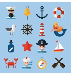 Nautical Icons Set vector image