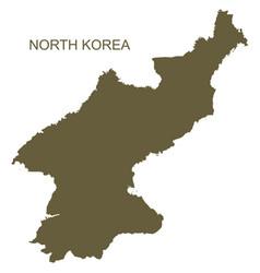 north korea contour vector image