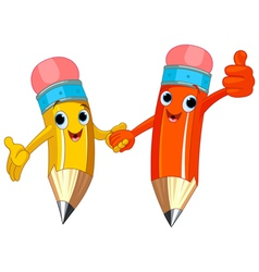 Pencil Characters vector image