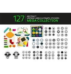 Set of vintage stamps lables tags icons vector image vector image