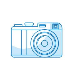 Silhouette cute digital camera to take a picture vector