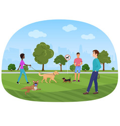 the people walking with vector image vector image
