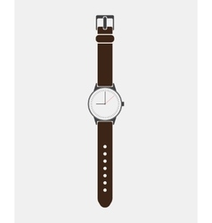 Trendy painted watch on a white background vector image