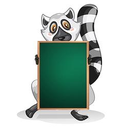A lemur holding an empty board vector
