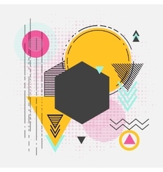 Abstract retro geometric background for vector
