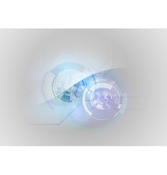 abstract tech blue vector image