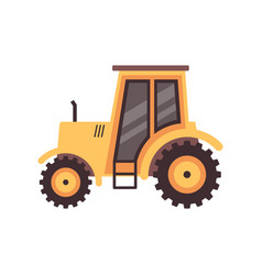 agricultural tractor machine cartoon icon flat vector image