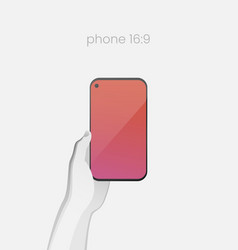 all-screen smartphone with in-screen selfie camera vector image