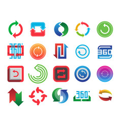 Angle 360 degrees web icons shape mark vector