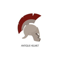 Antiques Greek Helmet Isolated on White vector