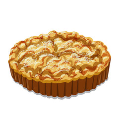 Baked apple pie vector