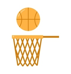 Basketball ball net vector