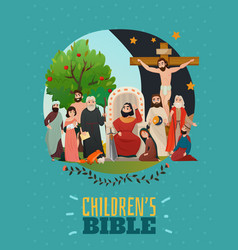 Bible story poster vector