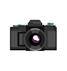 Black camera on a white vector