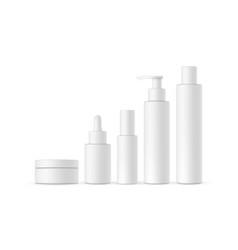 blank cosmetic packaging mock up vector image