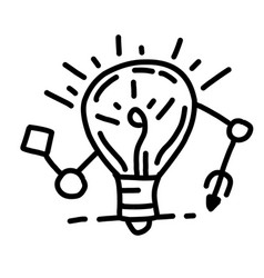 business idea hand drawn icon design outline vector image