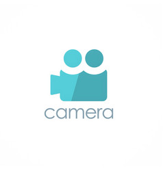 camera record logo vector image