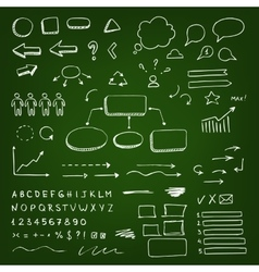 Chalk scribble elements vector