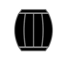 Contour wood barrel of wine beverage tasty vector