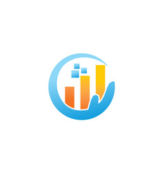 digital business investment marketing vector image