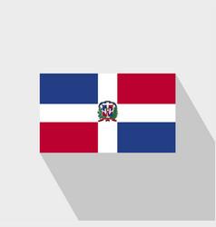 Dominican republic flag long shadow design vector