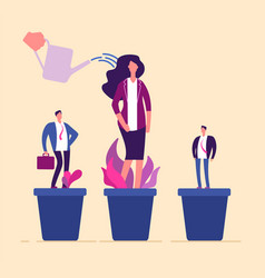 Employees growth business professional people in vector