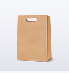 empty brown shopping bag vector image