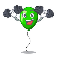 Fitness green balloon cartoon birthday very funny vector