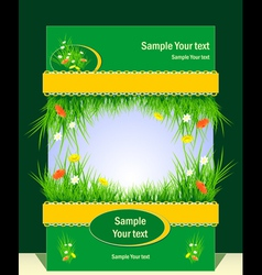Frame with grass for presentation vector image