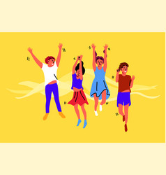 Fun celebration friendship happiness childhood vector