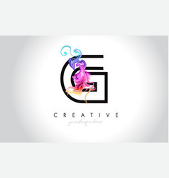 g vibrant creative leter logo design with vector image