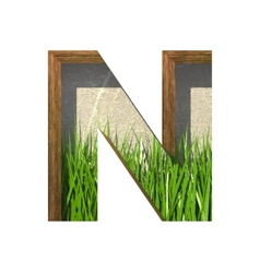 Grass cutted figure n Paste to any background vector