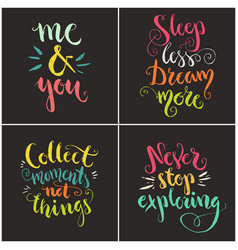 Handdrawn quotes collection vector