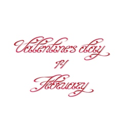 Handwritten calligraphic inscription for Valentine vector