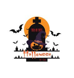 happy halloween 31 oct greetings background vector image