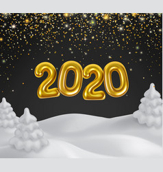 happy new 2020 year golden numbers vector image
