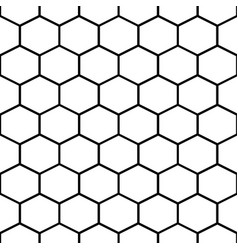 Honey comb cells seamless pattern vector