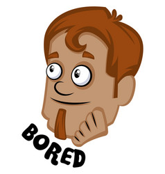human emoji feeling bored on white background vector image