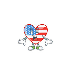 Independence day love with a surprised gesture vector