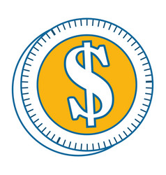 isolated money coin vector image