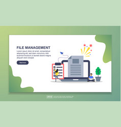 landing page template file management modern vector image