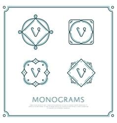 Letter V Monogram vector image
