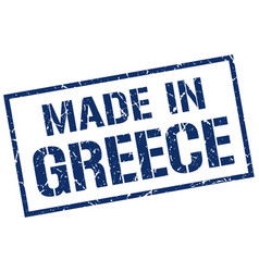 Made in greece stamp vector