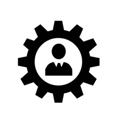 man in a gear icon icon simple element man in a vector image