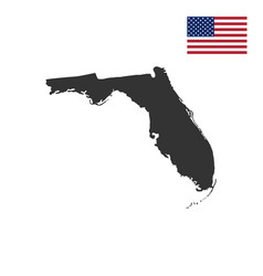 map us state florida vector image