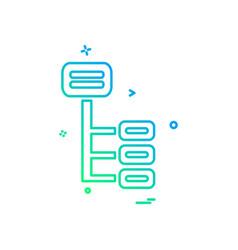 menu tree icon design vector image