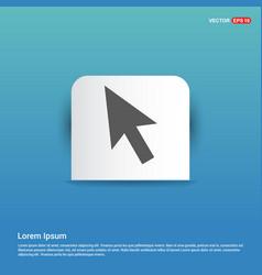 mouse cursor icon - blue sticker button vector image